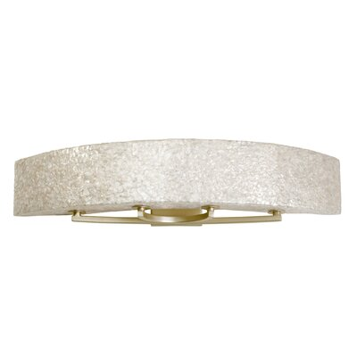 Varaluz Radius Natural Crushed Capiz Four Light Bath Fixture in Gold Dust