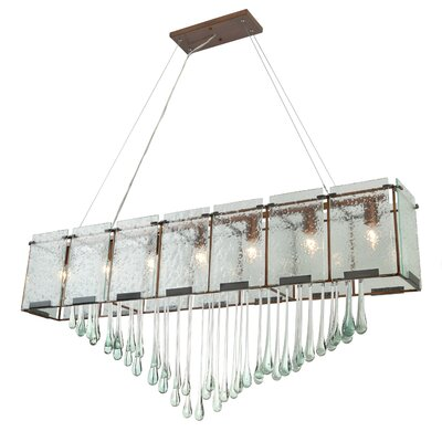 Rain Drops 7 Light Linear Pendant