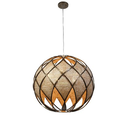 Varaluz Argyle 5 Light DownLight Drum Foyer Pendant