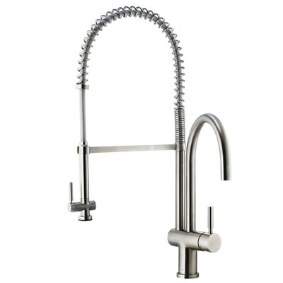 Two Handle Single Hole Pot Filler Kitchen Faucet