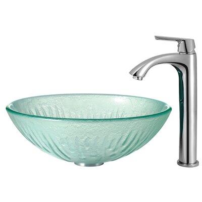 Vigo Icicles Tempered Glass Bathroom Sink
