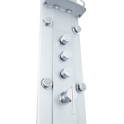 Vigo Thermostatic Shower Panel with Rain Shower Head