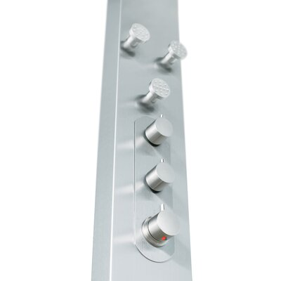 Vigo Thermostatic Shower Panel System with Round Rain Shower Head