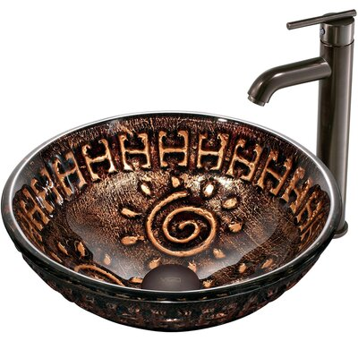 Aztec Vessel Sink with Faucet - VGT169
