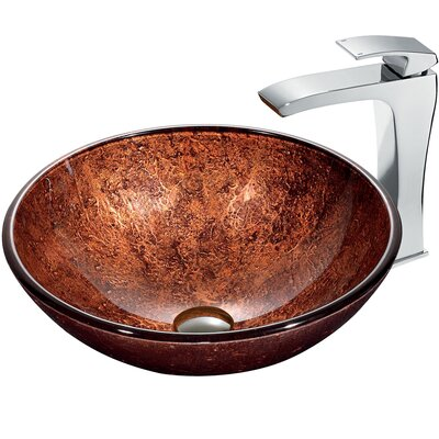 Mahogany Moon Vessel with Faucet - VGT179