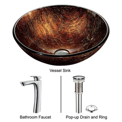 Vigo Kenyan Twilight Sink with Faucet