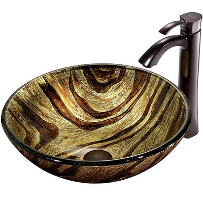 Zebra Vessel Sink with Faucet - VGT193