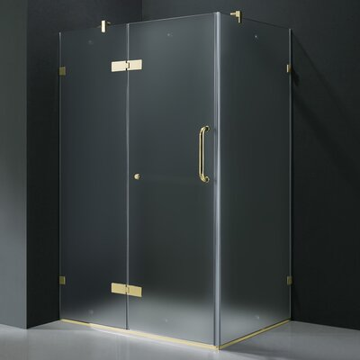 Vigo 24&quot; Pivot Door Swing Frameless Shower Enclosure