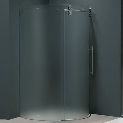 Vigo Frameless Round Neo-Angle Right Side Shower Door