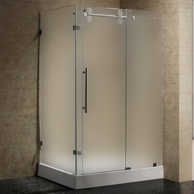 Vigo sliding door frameless shower enclosure with base for 1300 sliding shower door