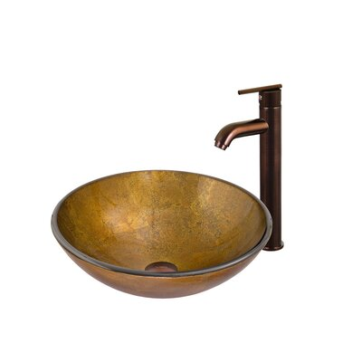 Atlantis Glass Bathroom Sink with Faucet - VGT130