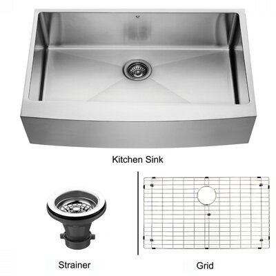"Vigo 30"" x 22.25"" Farmhouse Kitchen Sink"