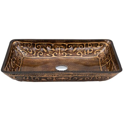 Golden Greek Glass Vessel Sink - VG07045