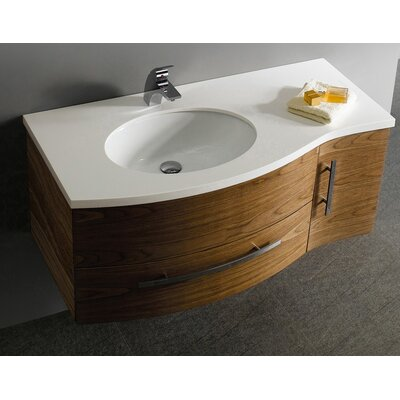 vigo distinct 44 wall mounted bathroom vanity set