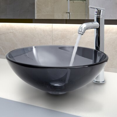 Glass Vessel Sink with Faucet - VGT256 / VGT269