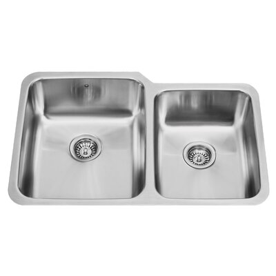 Vigo Double Bowl Undermount Kitchen Sink