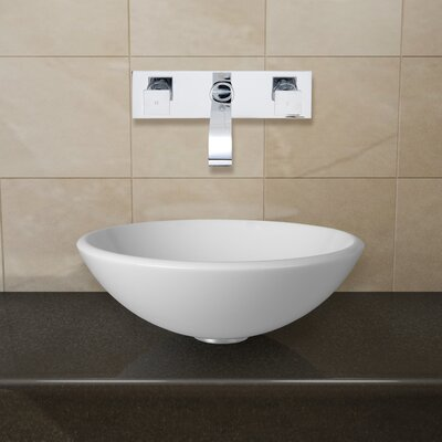 Phoenix Stone Glass Vessel Sink with Wall Mount Faucet - VGT21