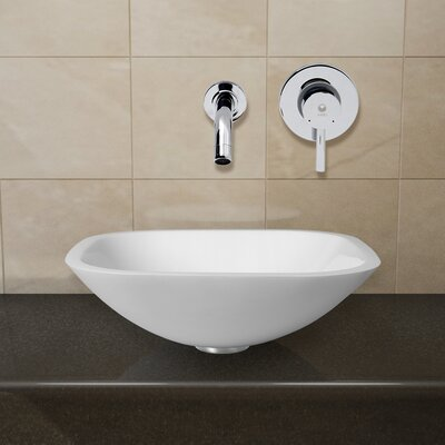 Phoenix Stone Glass Vessel Sink with Wall Mount Faucet - VGT2