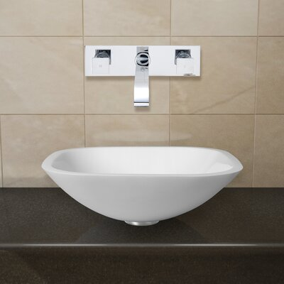 Phoenix Stone Glass Vessel Sink with Wall Mount Faucet - VGT22