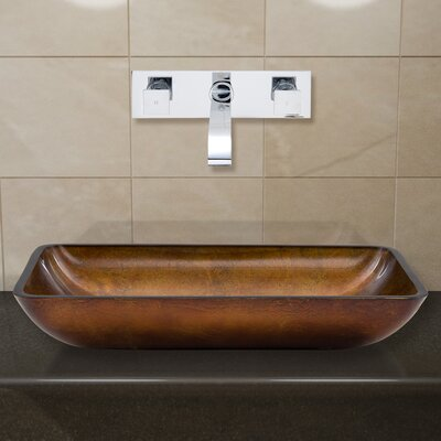 Glass Vessel Sink with Wall Mount Faucet - VGU2212