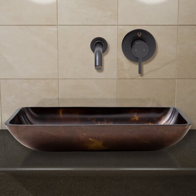Glass Vessel Sink with Wall Mount Faucet - VGU2209