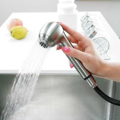 Vigo One Handle Single Hole Spray Kitchen Faucet with Soap Dispenser