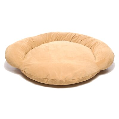 Everest Pet Velvet Microfiber Bolster Dog Bed in Caramel