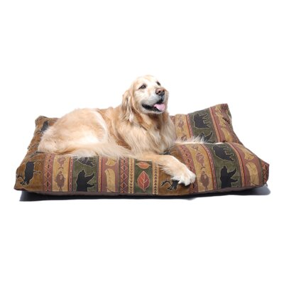 Northwoods Tapestry Pet Bed in Green
