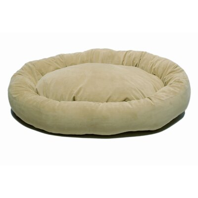 Microfiber Bagel Dog Bed in Sage