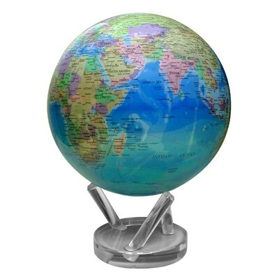 "MOVA Globes 8.5"" Blue Oceans Political Map Globe with Crystal Base"