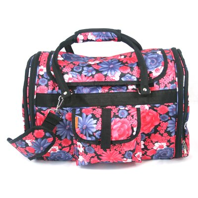 Covered Pet Carrier in Vintage Flower