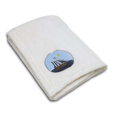 NoJo Ahoy Mate! Applique Coral Fleece Blanket