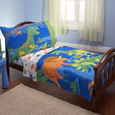 NoJo Dinosaurs 4 Piece Toddler Bedding Set