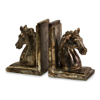 IMAX Quinn Horse Bookends (Set of 2)