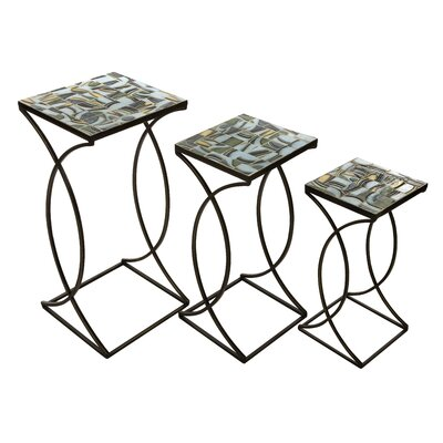 IMAX Crowley Mosaic 3 Piece Nesting Tables