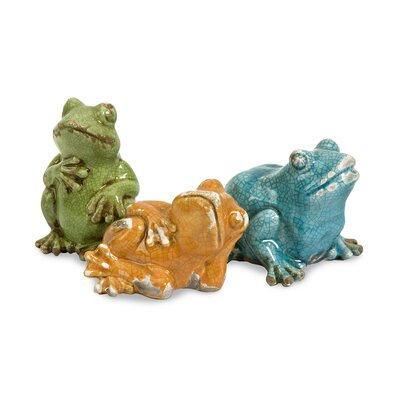 IMAX Garza Casual Frogs Statue (Set of 2)