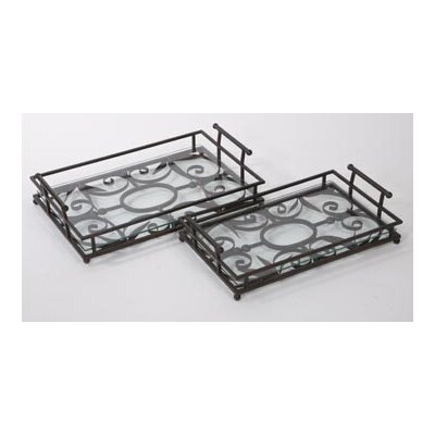 IMAX Eden Rectangular Serving Tray (Set of 2)