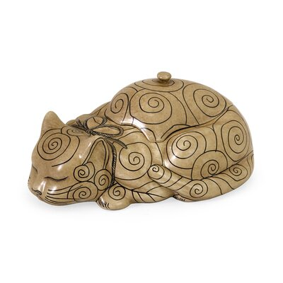 Decorative Cat Lidded Box