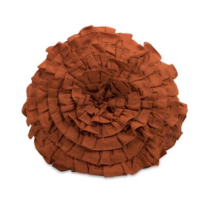 IMAX Round Norida Pillow in Orange