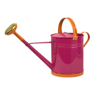 IMAX Edison Brights Large Watering Can in Pink and Orange