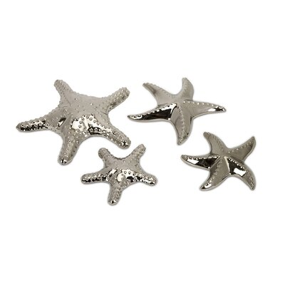 IMAX Cortland Star Fish in Silver (Set of 4)