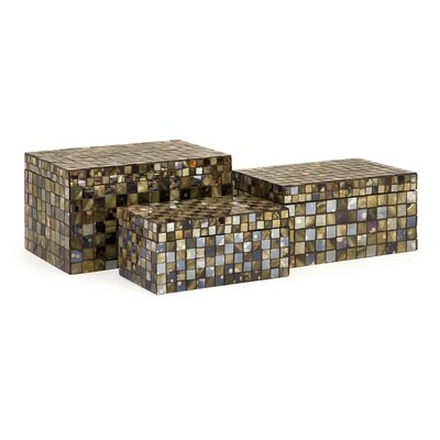 IMAX Noida Mosaic Boxes (Set of 3)
