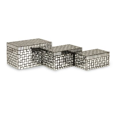 IMAX Foley Mirror Mosaic Boxes (Set of 3)