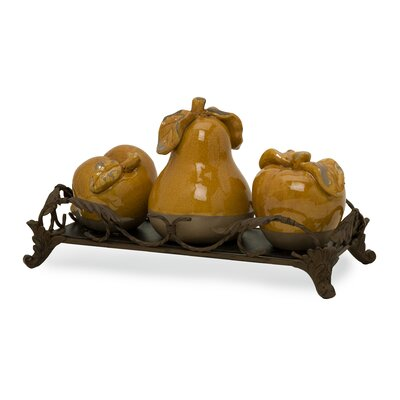IMAX Italia Fruits  Figurines (Set of 4)