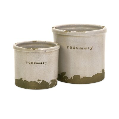 IMAX Rosemary Herb Pots (Set of 2)