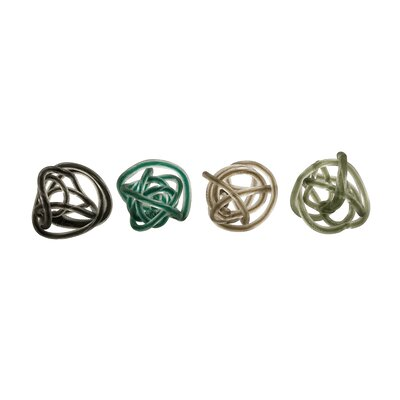 IMAX Large Glass Rope Knots (Set of 4)