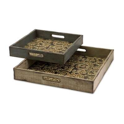 IMAX Corinne Square Serving Tray (Set of 2)