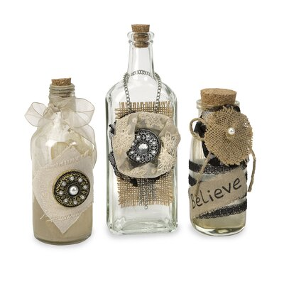 Wildon Home ® Iva Vintage Bottles (Set of 3)
