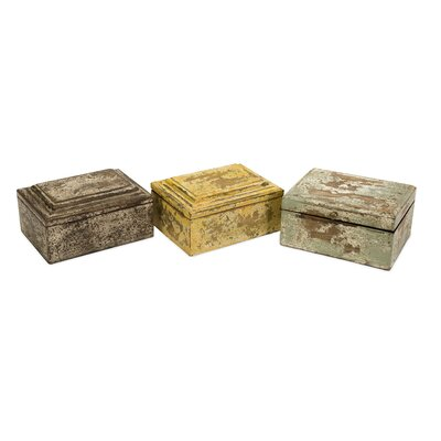 IMAX Kanan Wood Box (Set of 3)
