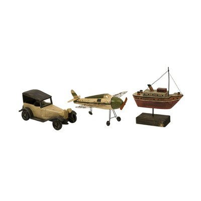 <strong>IMAX</strong> 3 Piece Wright Air Water and Land Model Transportation Figurine